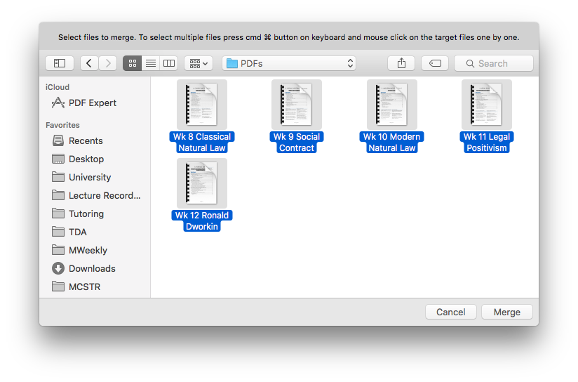 merging multiple pdf files into one mac